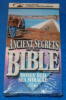 Ancient Secrets of the Bible Moses Red Sea Miracle Did It Happen? VHS, New