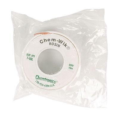 Large 15 Mtr x 2 mm Reel, Solder Sucker Braid,  Desoldering Mop Wick Chem-Wik