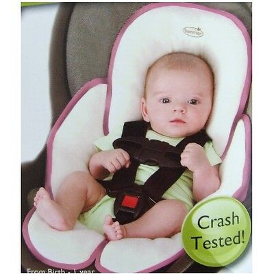 Summer Infant Snuzzler Infant Head & Body Car Seat Support, Pink