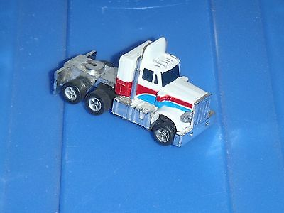 ★ AFX PETERBILT TRUCK TRACTOR BIG RIG TRUCKING WHITE/BLUE/RED CAB AURORA HO SLOT