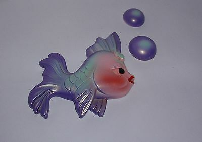 Vintage  Miller Studio CHALKWARE FISH 2 Bubbles Wall Hangings AWESOME!!