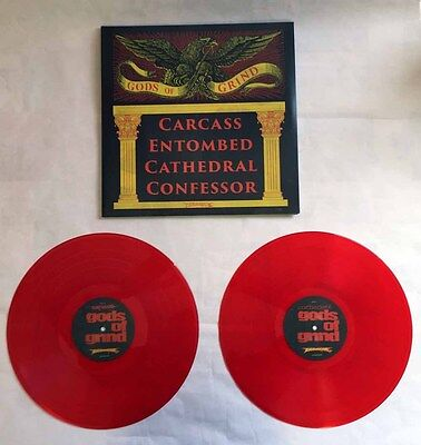 """Var. """"Gods Of Grind"""" 2x12"""" Red Vinyl - RSD 2015 carcass cathedral entombed"""