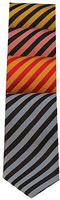 Equetech Broad Stripe Show Tie 5 Colours Adult & Junior + Worldwide Shipping