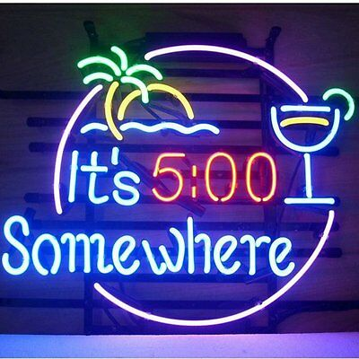 SomeWhere  Neon Light Sign Store Display Beer Bar Sign Real Neon 17*14