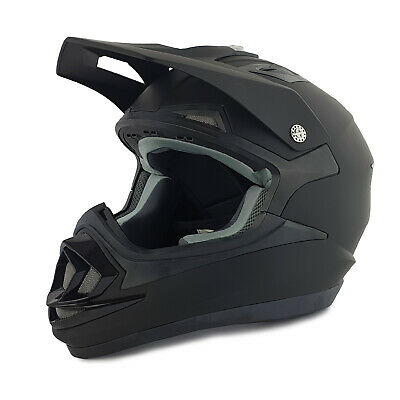 Full Face Helmet Adult Matt Black Race / Leisure / Track Acu Gold