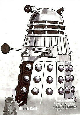 Dr Doctor Who Big Screen Additions Mono Sketch Card by Jason Davies /9