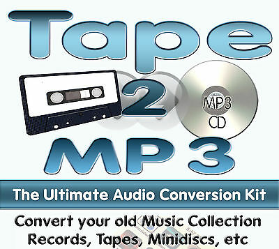 Tape 2 MP3 - Transfer Old Cassettes to MP3 or CD - 1.2m DIY Kit + FREE CD Gift