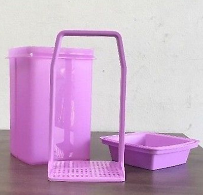Tupperware Large Pick A Deli Container & Strainer Olives Pickles + Purple New