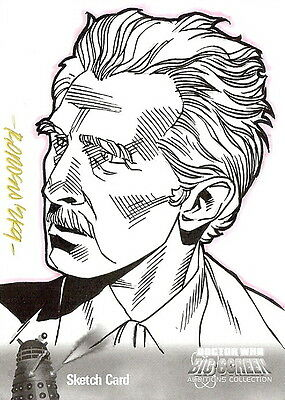 Dr Doctor Who Big Screen Additions Mono Sketch Card by Ryan Orosco /4