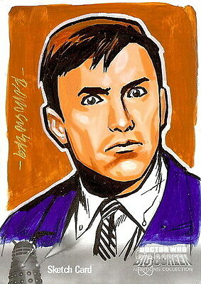 Dr Doctor Who Big Screen Additions Mono Sketch Card by Ryan Orosco /7