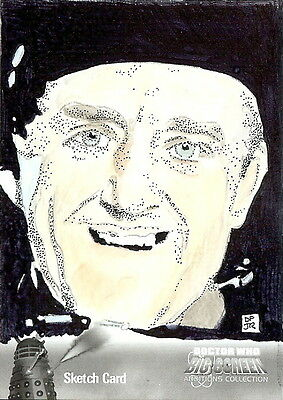 Dr Doctor Who Big Screen Additions Mono Sketch Card by Don Pedicini /2