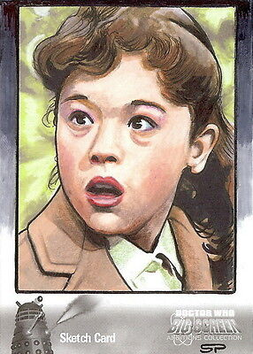Dr Doctor Who Big Screen Additions Mono Sketch Card by Sean Pence /2