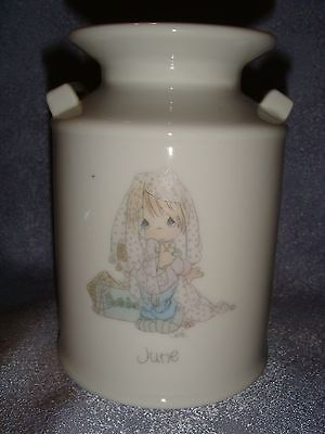 Precious Moments - Porcelain Jug - JUNE - Girl Playing Dress-Up - 1988