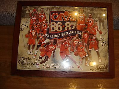 2006-07 Cleveland Cavaliers Team Poster - Autographed by 4 Legends - Framed