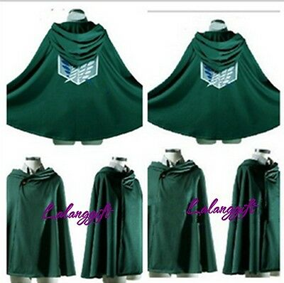 Anime Shingeki no Kyojin Cloak Cape clothes cosplay Attack on Titan Free Size LG