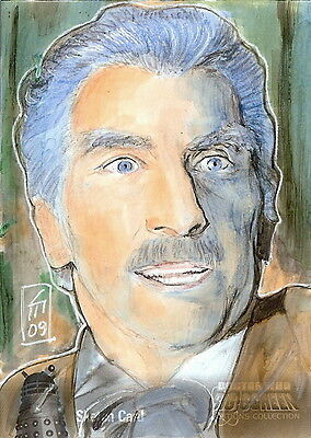 Dr Doctor Who Big Screen Additions Mono Sketch Card by Leah Mangue /1