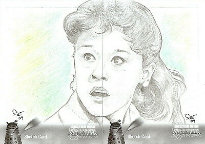 Dr Doctor Who Big Screen Additions Mono Sketch Card by Carolyn Edwards [Dual] /B