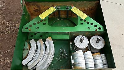 GREENLEE 777 CONDUIT PIPE BENDER 1 1/4 to 4 inch DIES FRAME NO PUMP NO CYLINDER