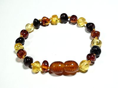 Natural genuine  Baltic amber baby teething bracelet / anklet   B83