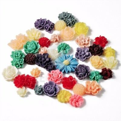 20g clearance Resin FLOWER Cabochons flatback wholesale DIY RB0771