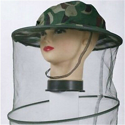 FD482 Protective Hat Mosquito Bug Insect Bee Mesh Net Head Face Protector Cool A