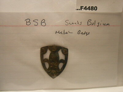 Bsb Scouts Belgium Metal Badge Pin Foreign F4480