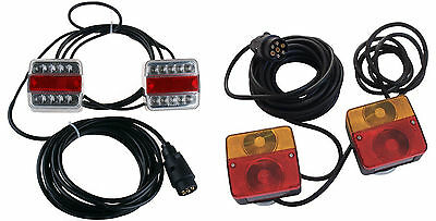 Magnetic Trailer Non-LED Or LED Light Board Set Car Boat 4.5m 7.5m 10m Cable New