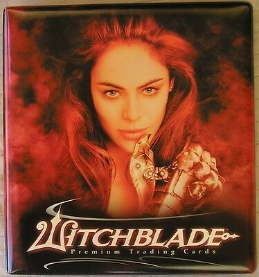 Witchblade Season 1 Binder & Full 81 Card Base Set of Trading Cards - Inkworks