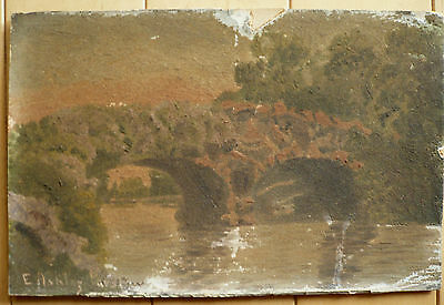 Evalyn Parslow, Rare Early California Mixed Media Signed Calif Ca Impressionism