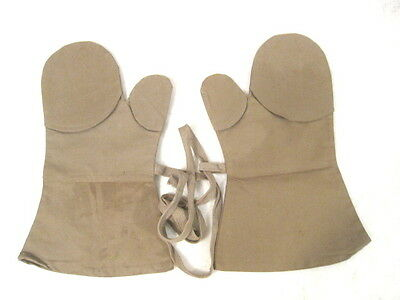 WWII Japanese Imperial Army Canvas Mosquito Proof Gloves or Mittens - Unissued