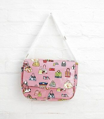 10 x Pink Oilcloth Shoulder Gym Shopping Changing Bag Job Lot PP10PK Christmas