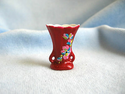 dollhouse doll house miniature PORCELAIN VASE WINE HAND PAINTED