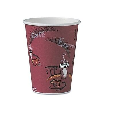 Solo Hot Paper Cups 12 Oz, 300 Count Attractive Coffee Themed Cup - New Item