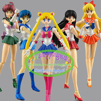 S.H.Figuarts Sailor moon 5 boxes 15cm PVC action Figures New in Box GIFT