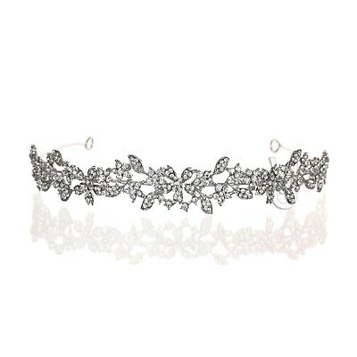 Bridal Floral Rhinestone Crystal Prom Wedding Tiara Headband 81077