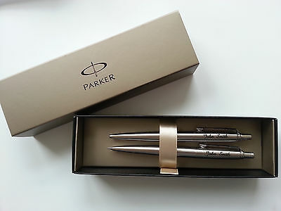 Parker Jotter Pen & Pencil SET. Great engraved PERSONALISED GIFT! FREE DELIVERY!