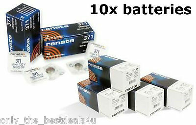 10x Genuine Renata Silver Oxide Watch Batteries [ALL SIZES] 0% Mercury Battery