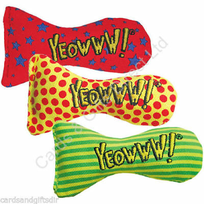 Yeowww Stinkies Fish Dots Stars Stripes Natural Catnip Cat Toys Play Kitten