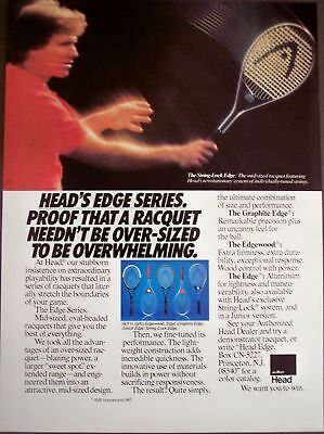 1982 vintage AD Head String-Lock Edge tennis raquets