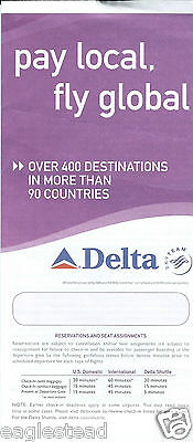 Ticket Jacket - Delta - Pay Local Fly Global - 2006 (J1849)