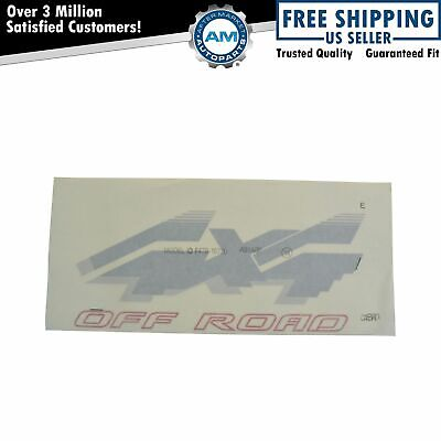 OEM 4x4 Off Road Bed Decal Red & Silver Rear LH or RH for Ford Pickup Truck New