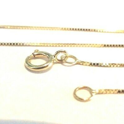 10Kt Pure Solid Yellow Gold 24 inch .6MM BOX Chain with Gift Box. Guaranteed!