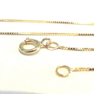 10Kt Solid Gold 24 inch .6MM BOX Chain with Gift Box............100% Guaranteed!