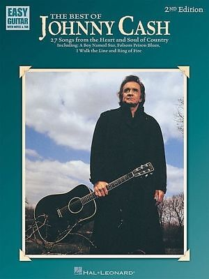 Johnny Cash - The Best Of Easy TAB Guitar Book *NEW* 2nd Edition Songs, Country
