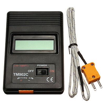 TM-902C K Type Digital LCD Thermometer Temperature Meter + Thermocouple Probe