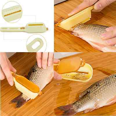Cool Fun Fish Scale Remover Scaler Scraper Cleaner Kitchen Tool Peeler Gadgets