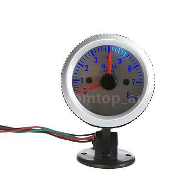 "Car Motor Vehicle 2"" 52mm Orange Digital LED 0-8000 RPM Tachometer Tacho Gauge"