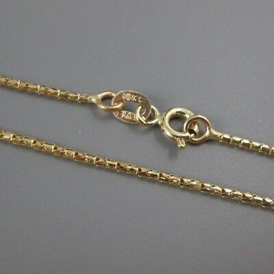 10KT Solid Yellow Gold Chain Necklace-Gold Necklace-Korean chain - Italy-18""