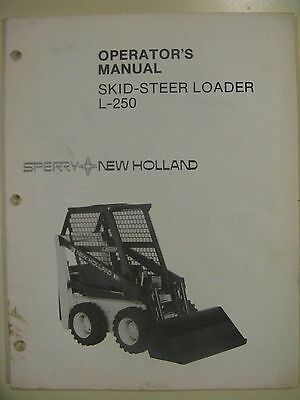 Sperry New Holland L250 Skid Steer Loader (UpTo - 751250) Operator Manual
