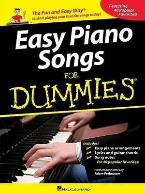 Easy Piano Songs For Dummies Book *NEW* Sheet Music, Easy And Fun, 40 Tunes